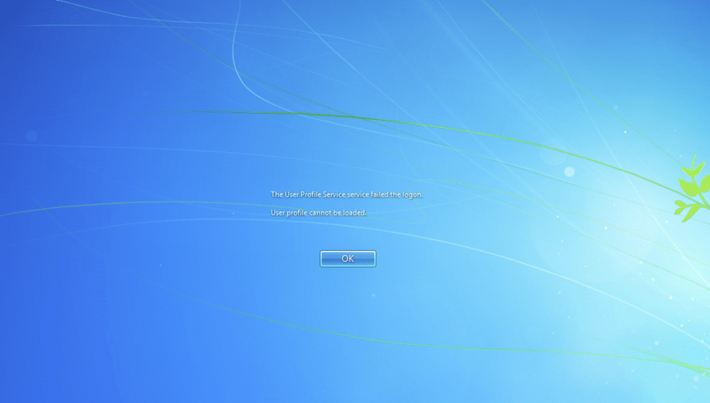 Photo of The user profile service service failed the logon Fix